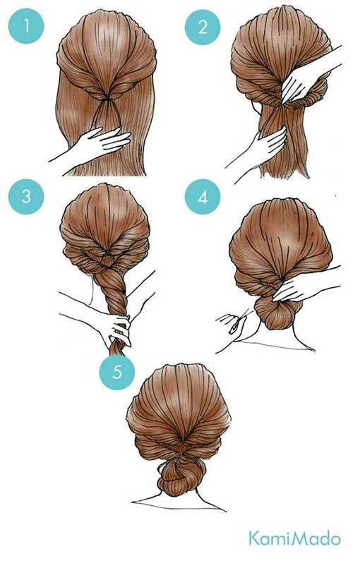 penteado para madrinha de cabelo longo do tipo coque