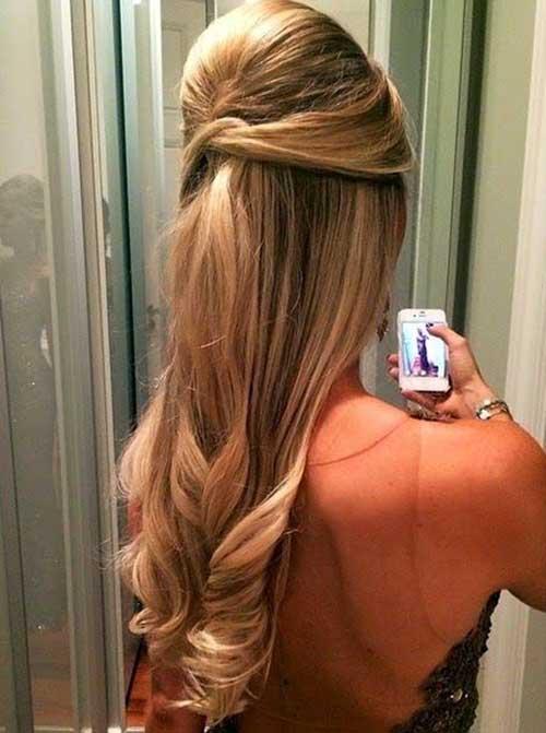 cabelo com volume no alto