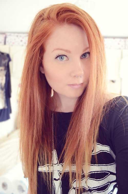 cabelo loiro claro acobreado na cor morango