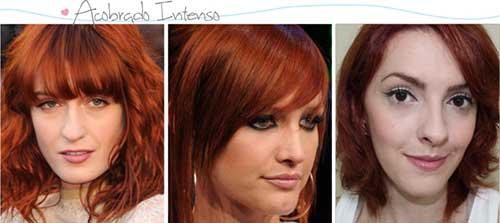 cabelo vermelho acobreado lindo