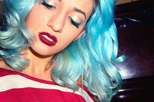 cabelo algodao doce com azul de metileno