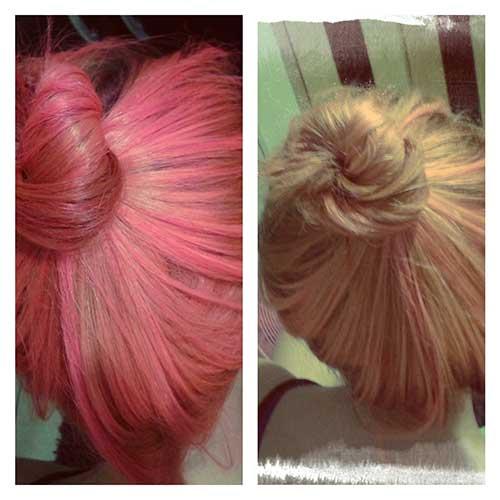 cabelos pintados com anilina rosa