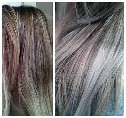 antes e depois de usar cor pastel