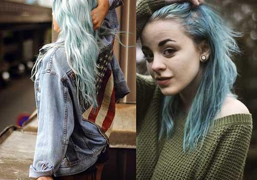 cabelo azul pastel especial