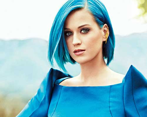cabelo short bob azul