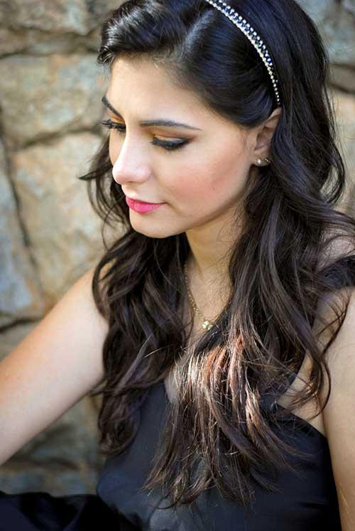 cabelo preto longo ondulado