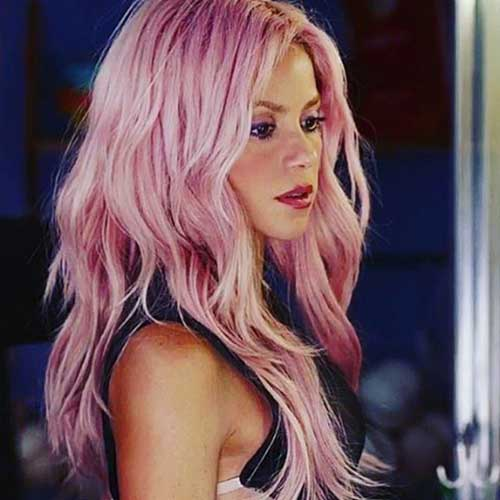 cabelo rosa da shakira bonito