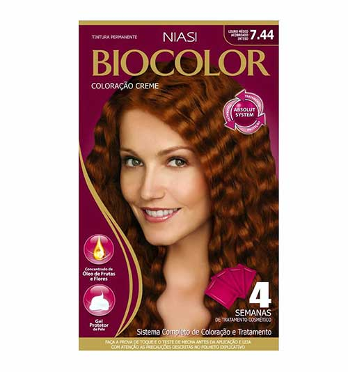 tom biocolor na cor cobre