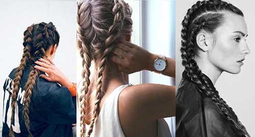 penteados legais com tranças