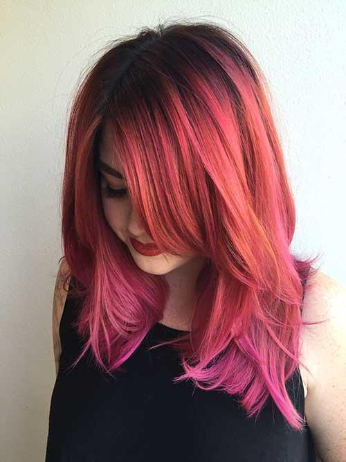 tom de cabelo rosa acobreado