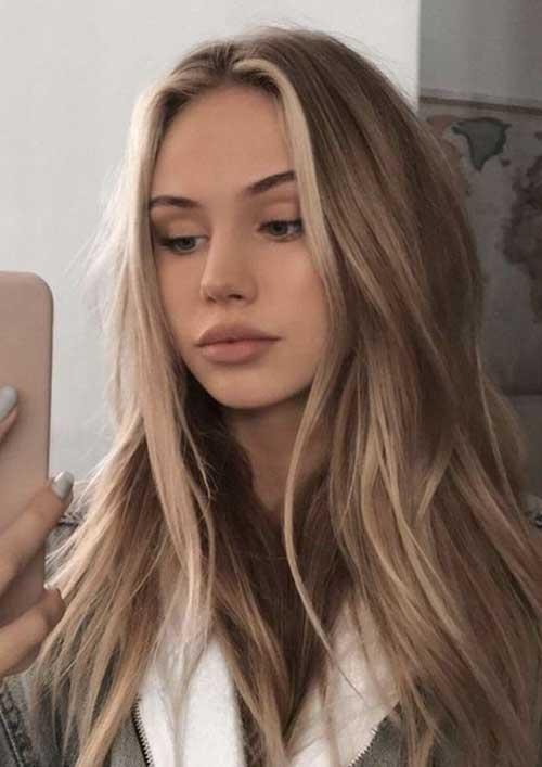 cabelo loiro bonito com reflexos mais claros
