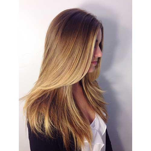 cabelo com franja e mechas californianas