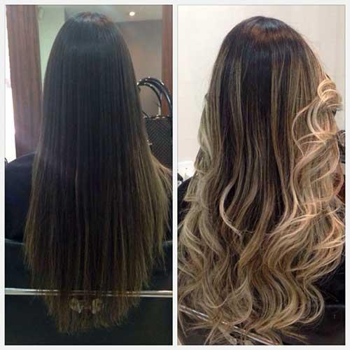 mechas californianas platinadas em cabelos escuros