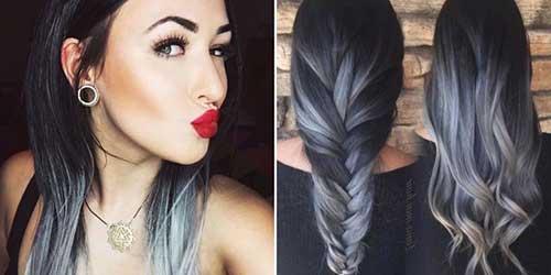 cabelo com californiana acinzentada