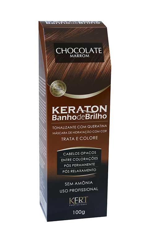 banho de brilho marrom chocolate