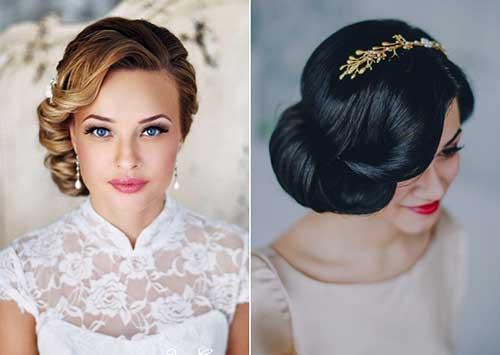 penteado tipo coque lateral de noiva