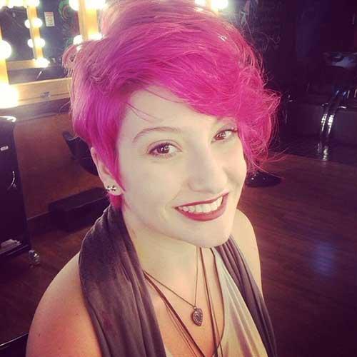 cabelo curto e rosa bonito