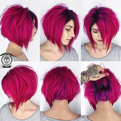 cabelos rosas magentas