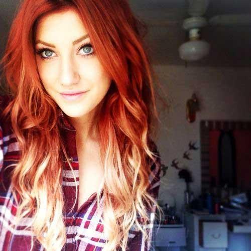 ombre hair de fogo
