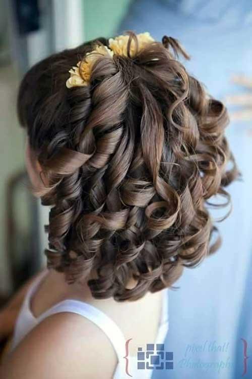 penteado legal infantil para dama de casorio