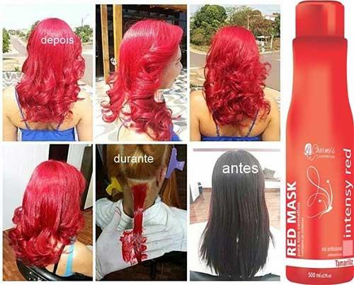 intensy color red para manter a cor dos cabelos