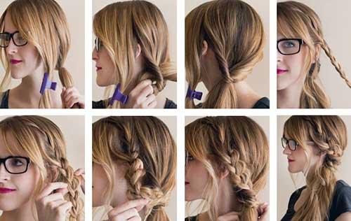 como fazer penteado facil e legal para ir pra escola