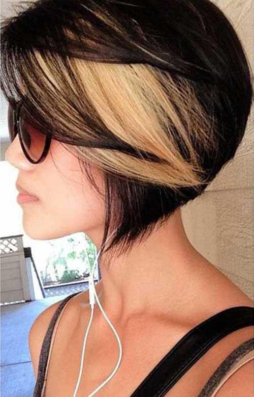 cabelo curto escuro platinado
