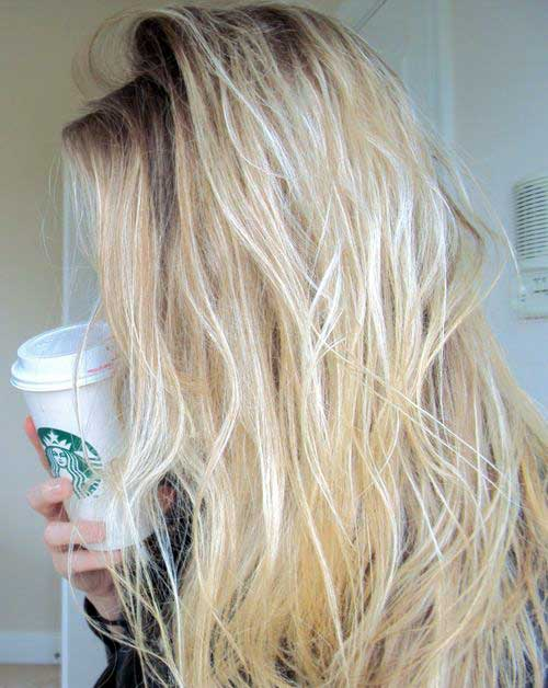 foto do tumblr de cabelo loiro