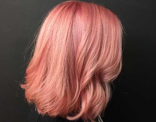 cabelo rosa na cor champagne
