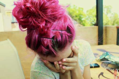 cabelo rosa tumblr bonito e bom