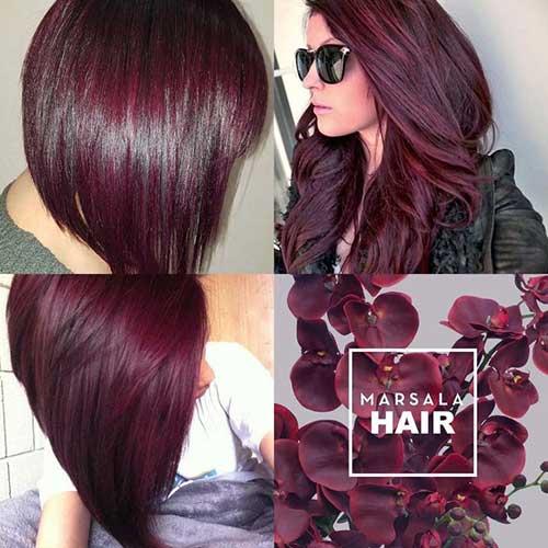 cabelo marsala ou violeta