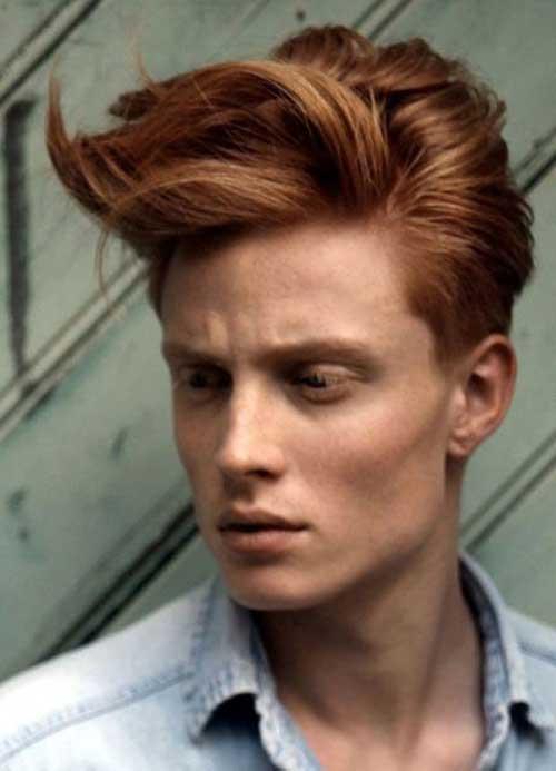 cabelo masculino na cor cobre