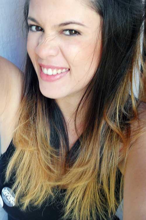 cabelo preto de blogueira com mechas