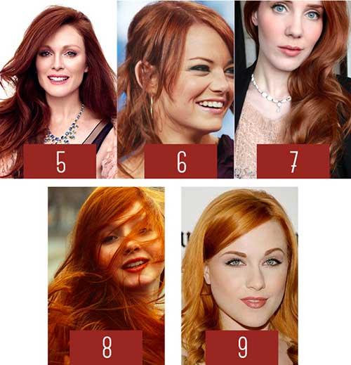 cabelos ruivos em tons