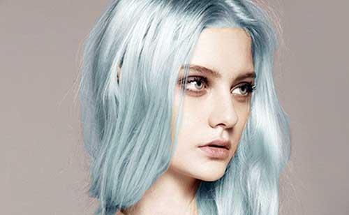 cabelo azul pastel