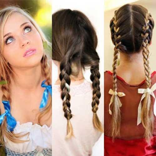 penteado com trança legal pra festa junina