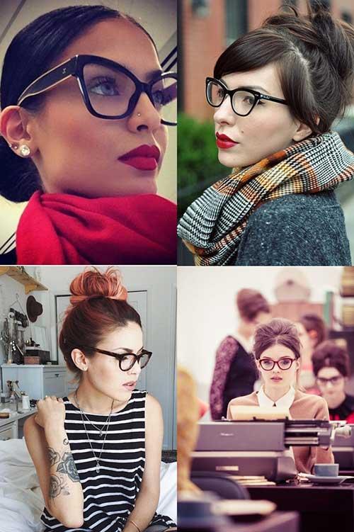 penteados simples de fazer em mulheres de oculos