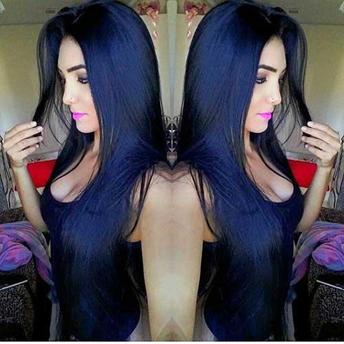 madeixas azuis e pretas bonitas