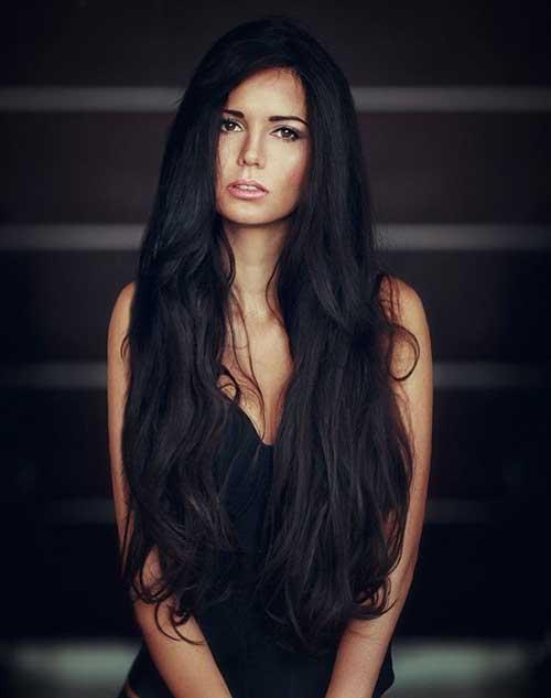 imagem de cabelo preto comprido