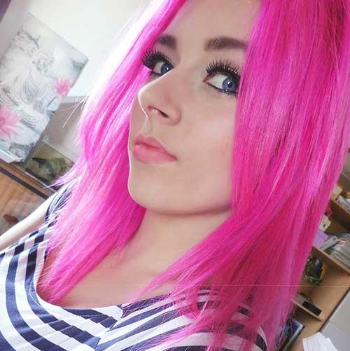 cabelo fluorescente para pele palida