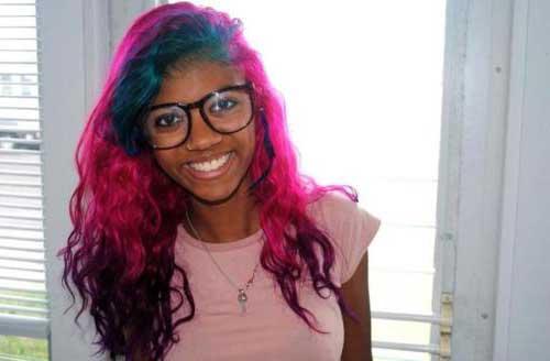cabelos rosas em morenas escuras