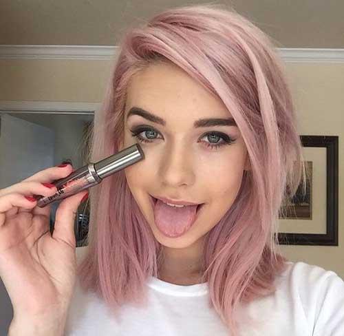 cabelos rosas pastel especial