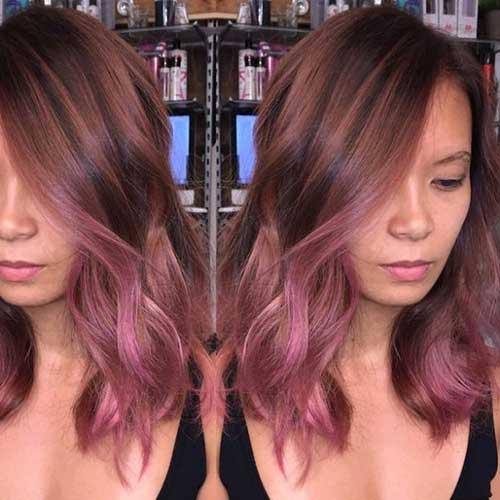 cabelo rosa pastel para morenas