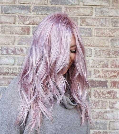 cabelo rosa perolado com brilho