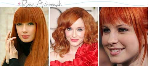 cabelos vermelhos acobreados
