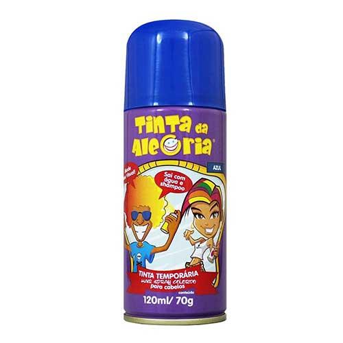 spray azul de cabelo