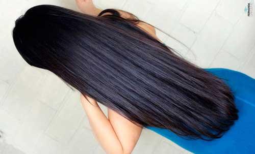 cabelos pretos bem compridos e lisos