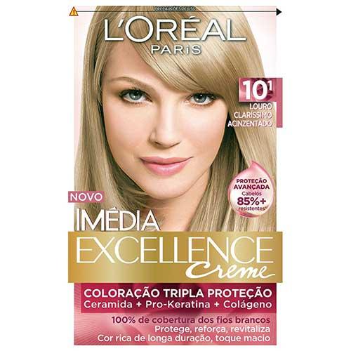 tinta de cabelo acinzentada loiro clarissimo