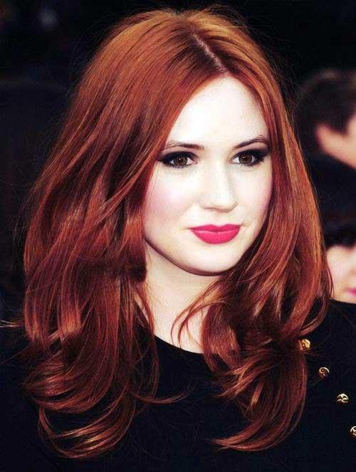 cabelo vermelho mais escuro