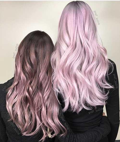 cabelo rosa metalizado por guy tang
